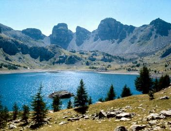 Near the lake of Allos